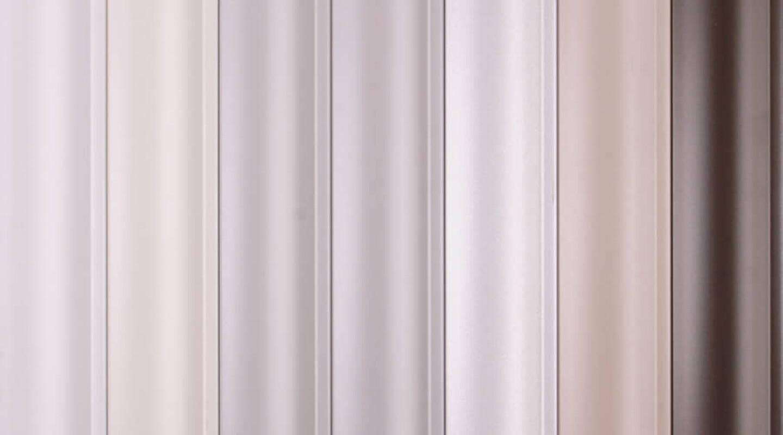 Lamellen staal met kleuren